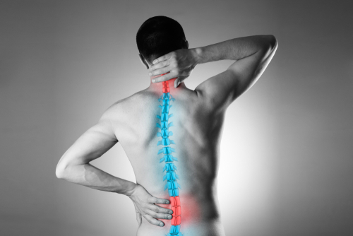 Pain,In,The,Spine,,A,Man,With,Backache,,Injury,In